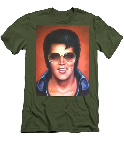 Elvis Presley Men's T-Shirt (Slim Fit) by Loxi Sibley