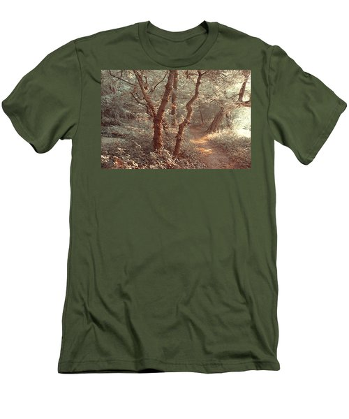 Men's T-Shirt (Athletic Fit) featuring the photograph Elvish Forest. Nature In Alien Skin by Jenny Rainbow