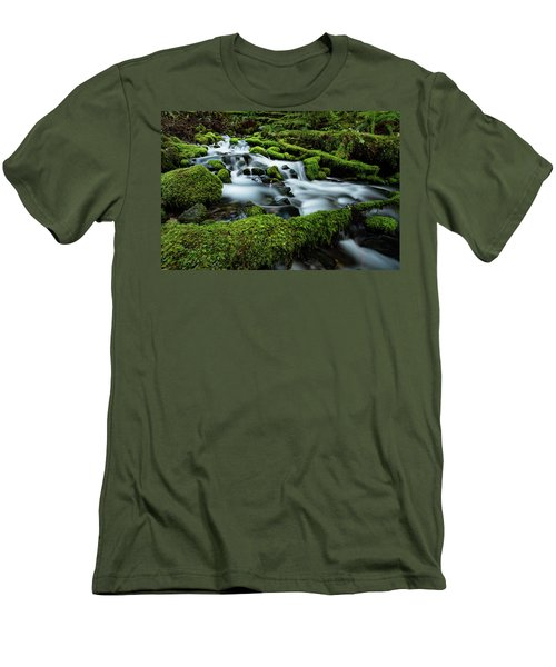 Emerald Flow Men's T-Shirt (Athletic Fit)