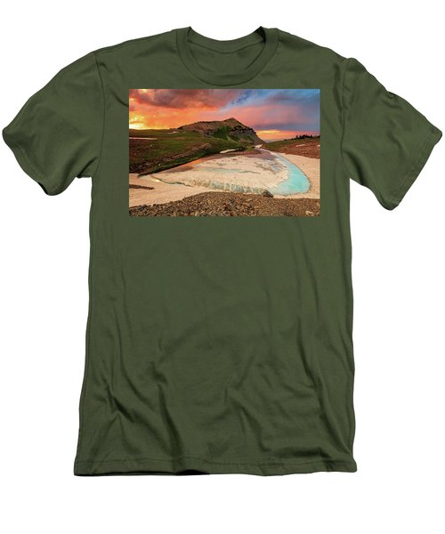 Emerald Lake Sunset Men's T-Shirt (Athletic Fit)