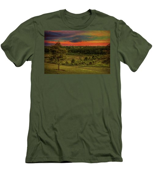 Men's T-Shirt (Athletic Fit) featuring the photograph End Of Day by Lewis Mann