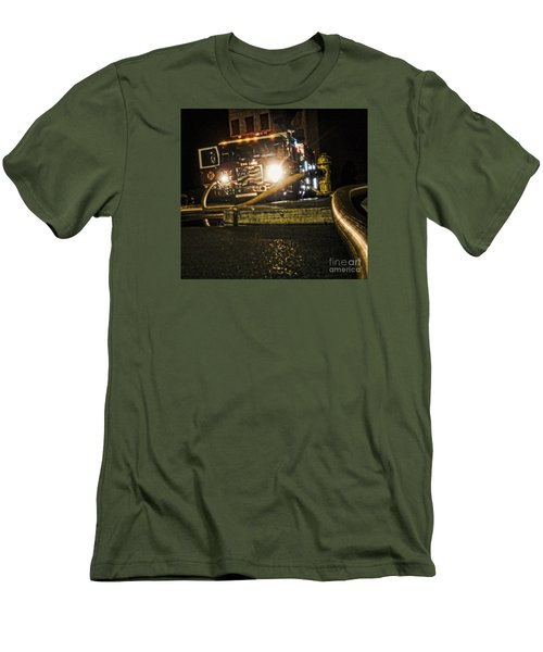 Men's T-Shirt (Slim Fit) featuring the photograph Engine 4 by Jim Lepard