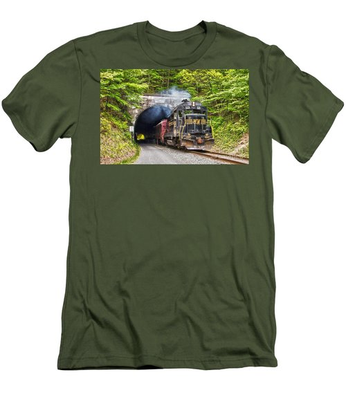 Engine 501 Coming Through The Brush Tunnel Men's T-Shirt (Athletic Fit)