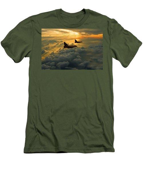 English Electric Lightning Sunset Flight Men's T-Shirt (Slim Fit) by Ken Brannen