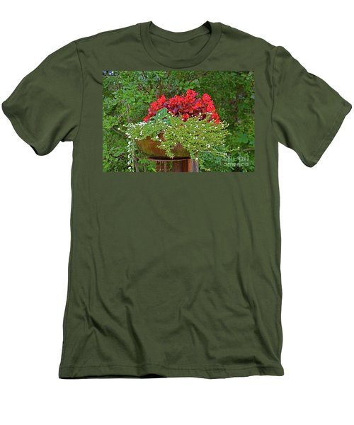Enjoy The Garden Men's T-Shirt (Slim Fit) by Ray Shrewsberry