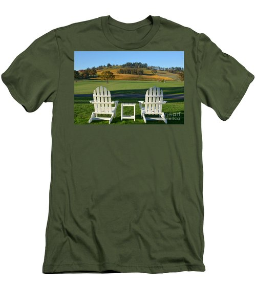 Enjoying Oregon Wine Country Men's T-Shirt (Athletic Fit)