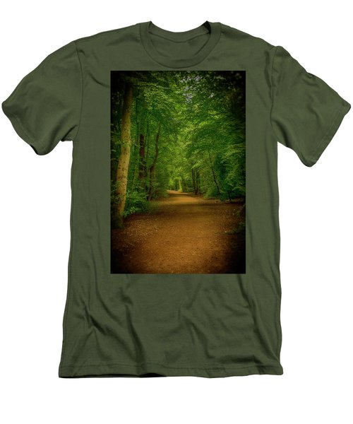 Epping Forest Walk Men's T-Shirt (Slim Fit) by David French