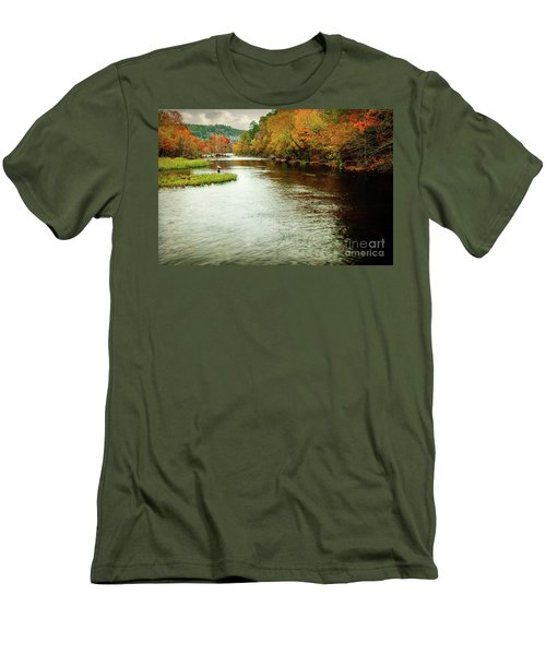Escape To Beaver's Bend Men's T-Shirt (Slim Fit) by Tamyra Ayles