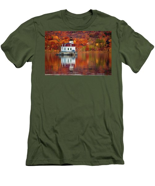 Men's T-Shirt (Slim Fit) featuring the photograph Esopus Lighthouse In Late Fall #2 by Jeff Severson