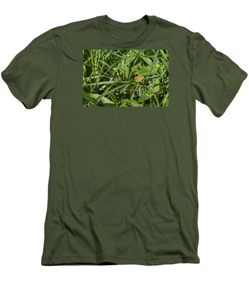 Men's T-Shirt (Slim Fit) featuring the photograph Essex Skipper 2 by Leif Sohlman
