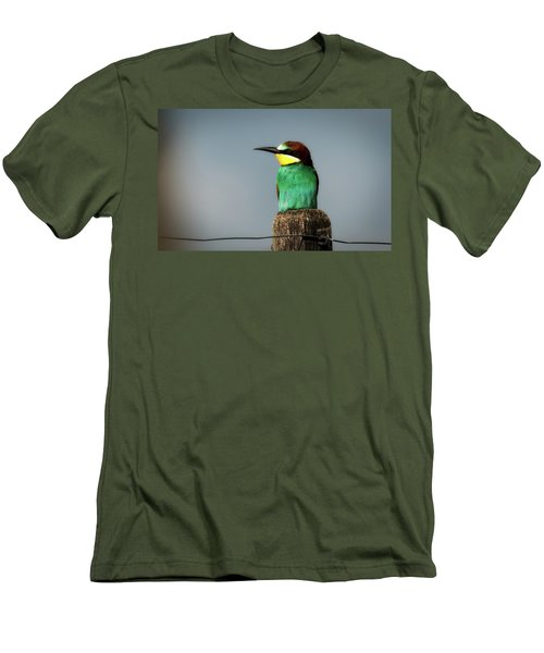 Men's T-Shirt (Slim Fit) featuring the photograph European Bee Eater by Wolfgang Vogt