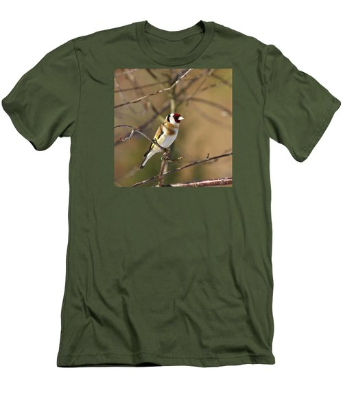 European Goldfinch 2 Men's T-Shirt (Slim Fit) by Jouko Lehto