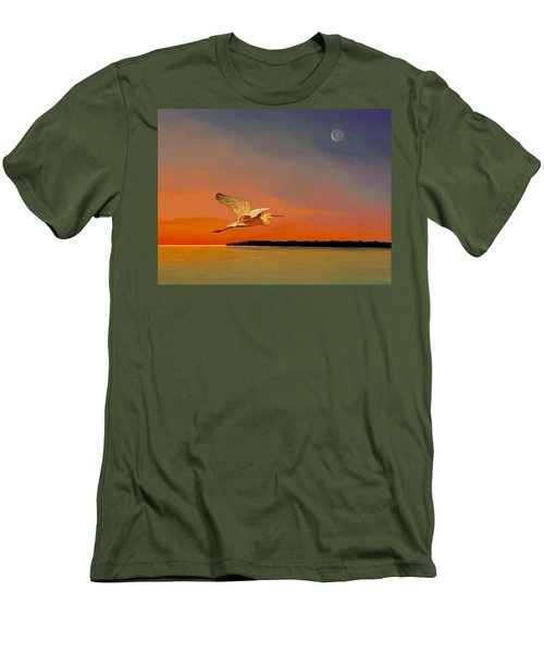 Evening Flight Men's T-Shirt (Slim Fit) by David  Van Hulst