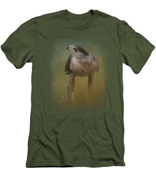 Evening Hawk Men's T-Shirt (Slim Fit) by Jai Johnson