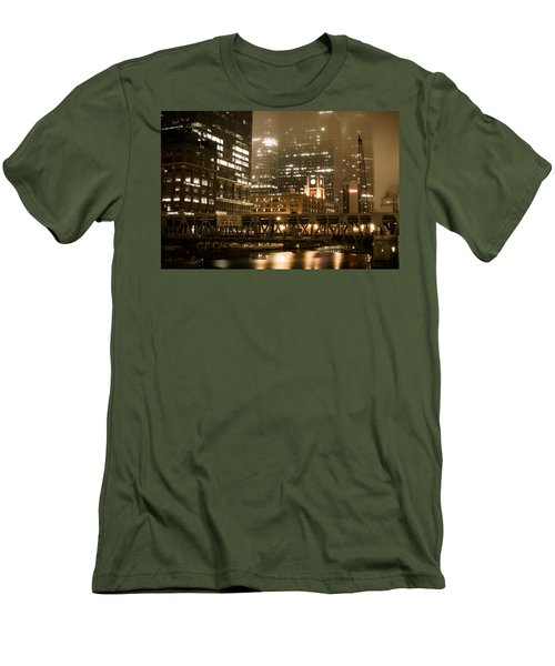 Evening In The Windy City Men's T-Shirt (Slim Fit) by Miguel Winterpacht