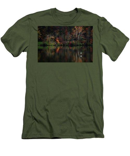 Evening On The Lake Men's T-Shirt (Slim Fit) by Rowana Ray