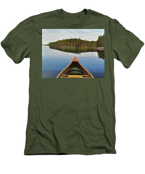 Evening Paddle  Men's T-Shirt (Slim Fit) by Kenneth M  Kirsch