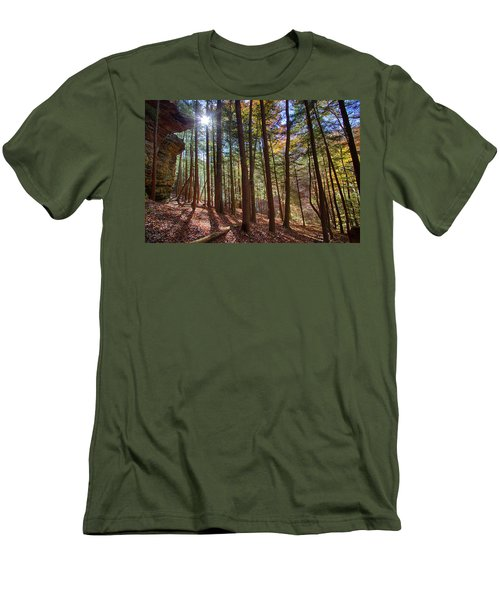 Evening Shadows Men's T-Shirt (Slim Fit) by Haren Images- Kriss Haren