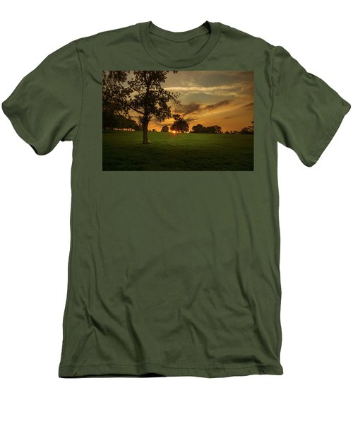 Men's T-Shirt (Slim Fit) featuring the photograph Evening Sun Over Brockwell Park by Lenny Carter