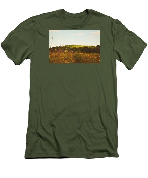 Men's T-Shirt (Slim Fit) featuring the photograph Evening Sunset Glow by Nikki McInnes