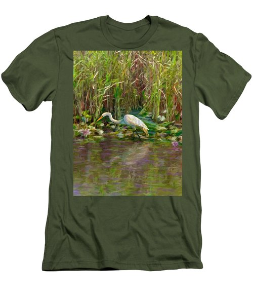 Everglades Hunter Men's T-Shirt (Slim Fit) by David  Van Hulst