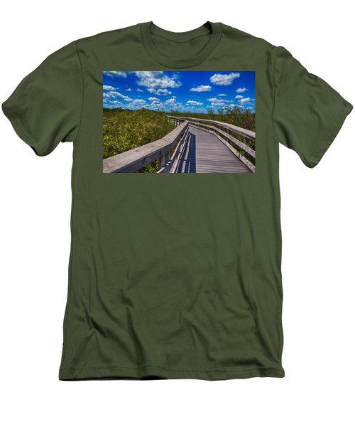 Everglades Trail Men's T-Shirt (Slim Fit) by Swank Photography