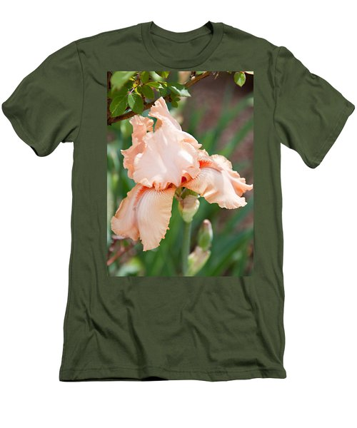 Men's T-Shirt (Slim Fit) featuring the photograph Everything Is Peachy by Sherry Hallemeier