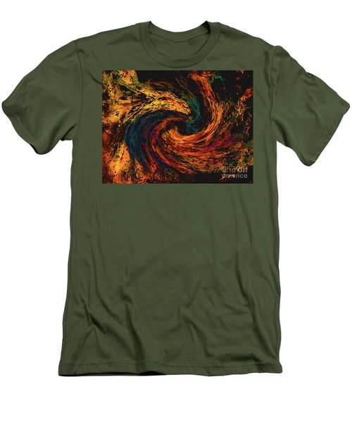 Men's T-Shirt (Athletic Fit) featuring the digital art Collision Of Evil Forces by Merton Allen