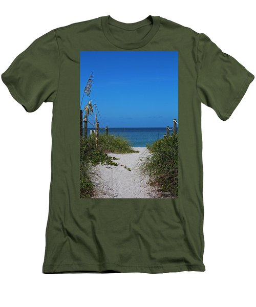 Men's T-Shirt (Athletic Fit) featuring the photograph Exclusively Captiva by Michiale Schneider
