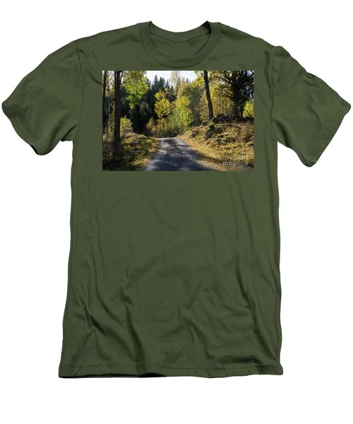 Exploring The Fall Season Men's T-Shirt (Slim Fit) by Kennerth and Birgitta Kullman