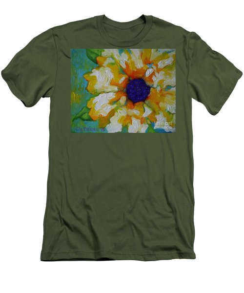 Men's T-Shirt (Slim Fit) featuring the painting Eye Of The Flower by Alison Caltrider