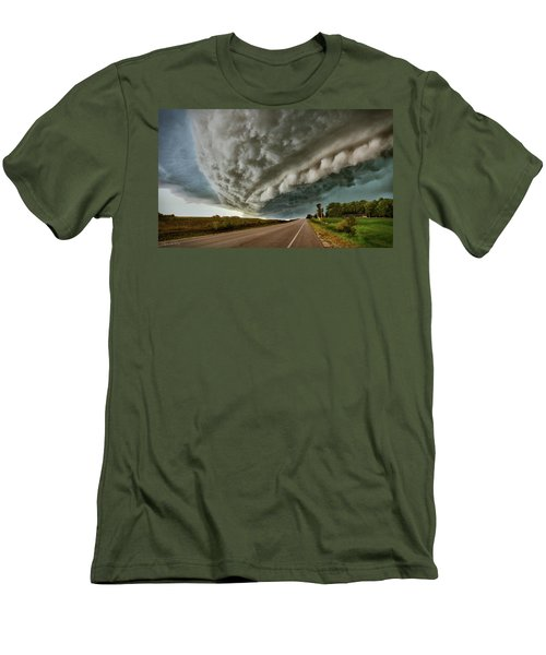 Face In The Storm Men's T-Shirt (Athletic Fit)