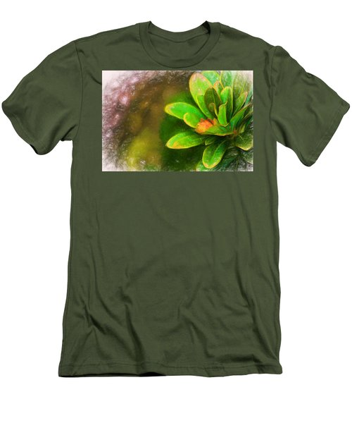 Faded Flora Men's T-Shirt (Slim Fit) by Terry Cork