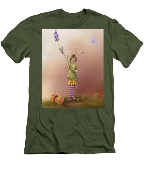 Fairy Bella Lavender Men's T-Shirt (Athletic Fit)