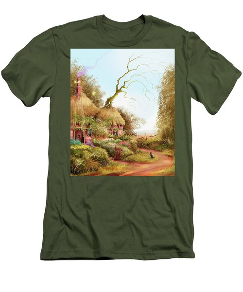 Fairy Chase Cottage Men's T-Shirt (Athletic Fit)