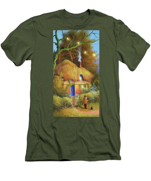 Fairy Cottage Men's T-Shirt (Athletic Fit)