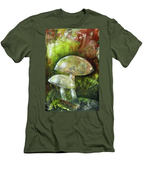 Fairy Kingdom Toadstool Men's T-Shirt (Slim Fit) by Terry Honstead