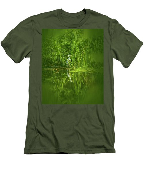 Fairy Tale Heron #g5 Men's T-Shirt (Athletic Fit)