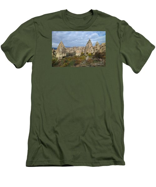 Men's T-Shirt (Slim Fit) featuring the photograph Fairy Tale Of Cappadocia by Yuri Santin