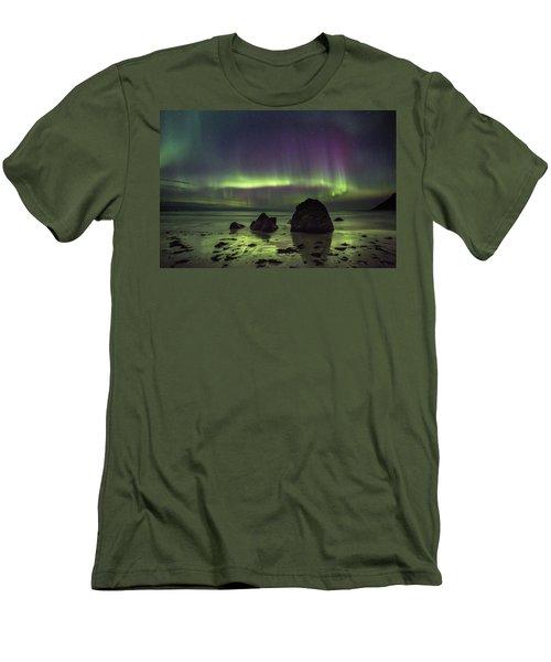 Fairytale Beach Men's T-Shirt (Slim Fit) by Alex Conu