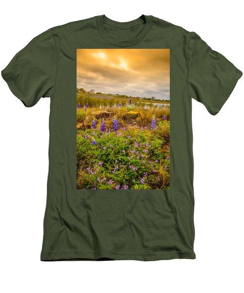 Zapata Falcon Lake 2 Men's T-Shirt (Slim Fit) by Leticia Latocki
