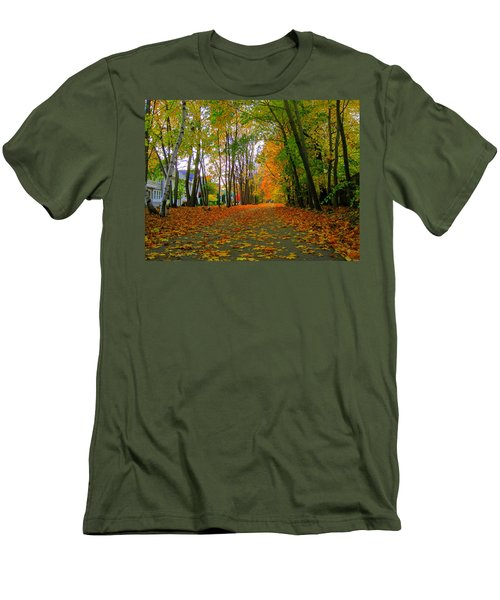 Fall Afternoon On The Rail Trail Men's T-Shirt (Athletic Fit)