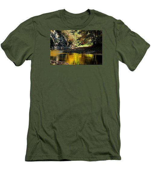 Men's T-Shirt (Slim Fit) featuring the photograph Fall At Big Creek by Bruce Patrick Smith