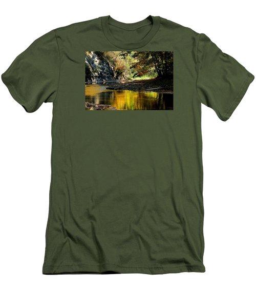 Fall At Big Creek Men's T-Shirt (Slim Fit)