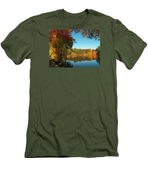Fall At Johnson Pond Men's T-Shirt (Athletic Fit)