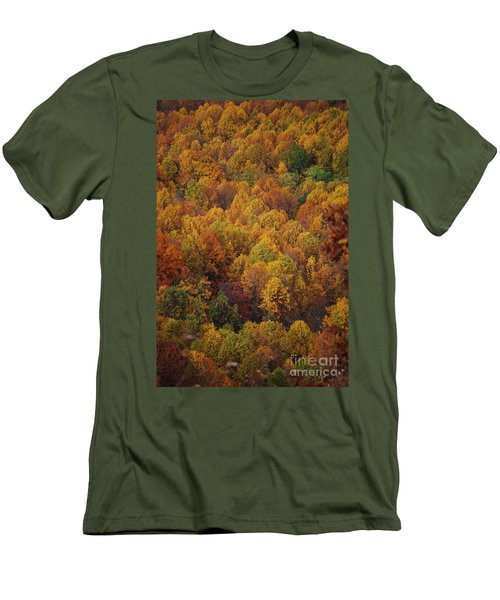 Men's T-Shirt (Slim Fit) featuring the photograph Fall Cluster by Eric Liller