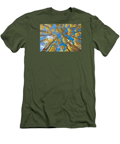 Fall Colored Aspens In The Inner Basin Men's T-Shirt (Slim Fit) by Jeff Goulden