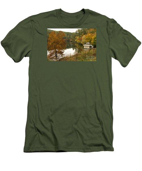 Men's T-Shirt (Slim Fit) featuring the photograph Fall Fishing by Barbara Bowen