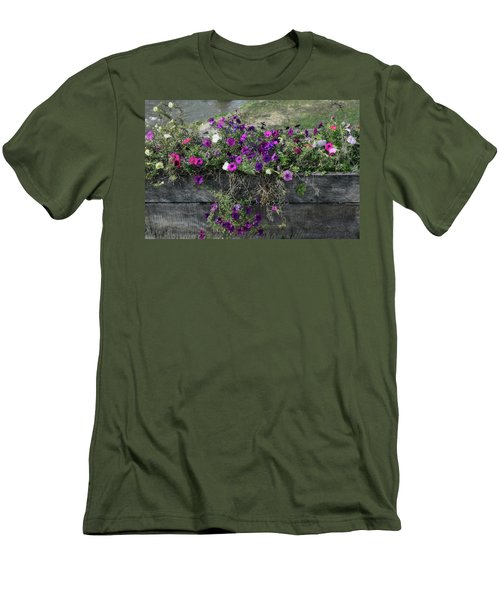 Men's T-Shirt (Slim Fit) featuring the photograph Fall Flower Box by Joanne Coyle