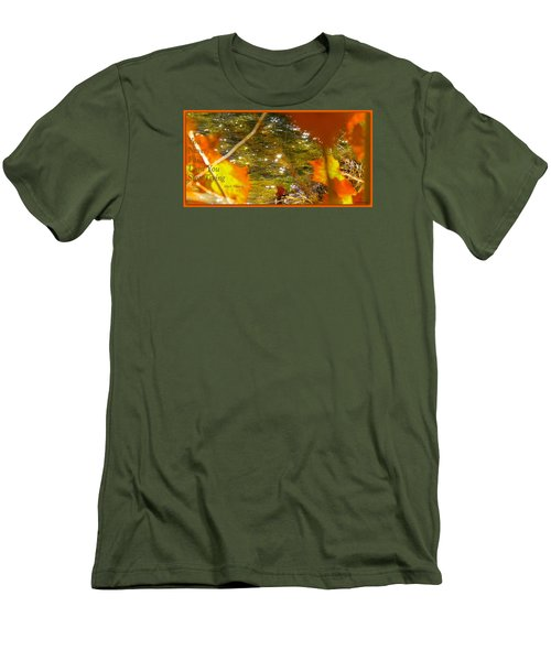 Men's T-Shirt (Slim Fit) featuring the photograph Fall Flyer by David Norman